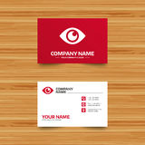 Eye sign icon. Publish content button. Stock Image
