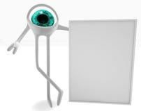 Eye with a signboard Stock Photos