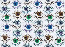 Eye silhouette seamless pattern Royalty Free Stock Images