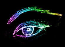Eye sketch, black Stock Image