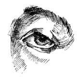 Eye sketch Royalty Free Stock Photos