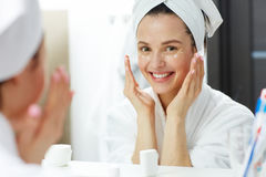 Eye skin care Stock Photos
