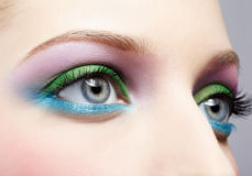 Eye skuggar smink Fotografering för Bildbyråer