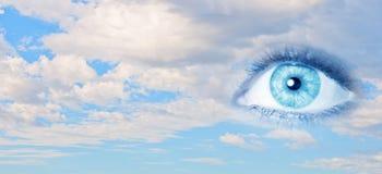Eye of sky Stock Image