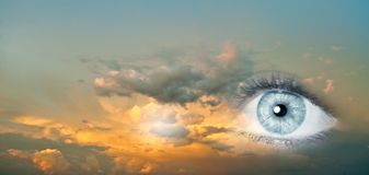 Eye of sky Royalty Free Stock Images