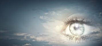 Eye of sky Stock Photo