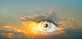 Eye of sky Stock Photography