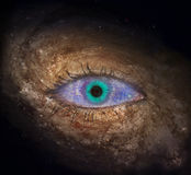 Eye in space Royalty Free Stock Photos