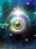 Eye in space Stock Images