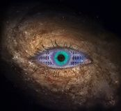 The eye of space royalty free stock photo