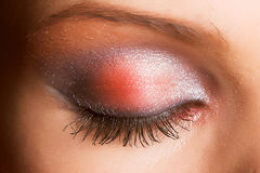 An eye with sparkly make up Stock Photography