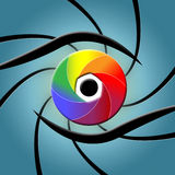 Eye Spectrum Indicates Colour Splash And Colourful Stock Photos