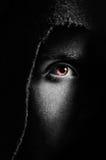 Eye of spooky man Royalty Free Stock Photos