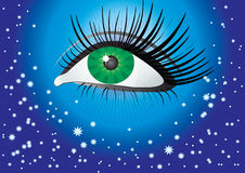 Eye and the stars. Royalty Free Stock Image