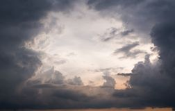 Eye of a storm clouds Royalty Free Stock Image