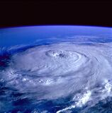 Eye of the Storm Image from Outer Space Stock Photos