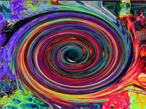 Eye Of The Storm2. Eye of the storm, Swirls of colors Stock Images