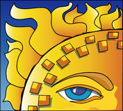 Eye of the Sun. Icon eye-con Royalty Free Stock Photography