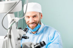 Eye surgeon portrait Stock Photo