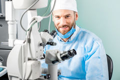 Eye surgeon portrait Stock Photos