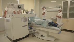 Eye surgery with excimer laser stock video footage