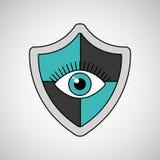 Eye surveillance protection shield. Vector illustration eps 10 Stock Photo