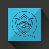 Eye surveillance protection shield. Vector illustration eps 10 Stock Photos