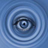 Eye in swirl Stock Photo