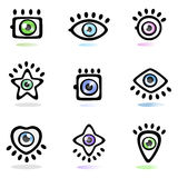 Eye Symbol Set Stock Images
