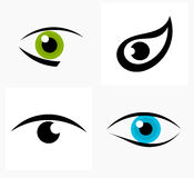 Eye symbols. Eyes symbols and icons. Vector illustration Royalty Free Stock Images