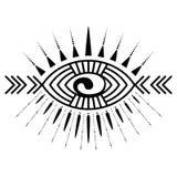 Eye tattoo element Stock Images