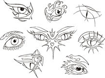 Eye tattoos Stock Images