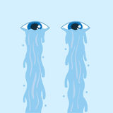 Eye Tears Flowing Stock Images