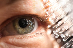 Eye technology. Fiber optics and eye technology Stock Images