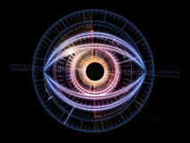 Eye of technology royalty free illustration