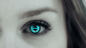 Eye Technology. In close up stock footage
