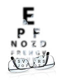 Eye test Royalty Free Stock Photos