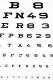 Eye test Royalty Free Stock Image
