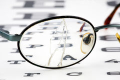 Eye test. By an optican Stock Images