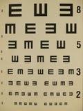 Eye test chart Stock Photos