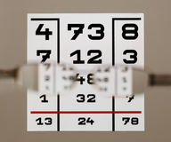 Eye test chart Stock Image