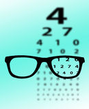 Eye test chart Royalty Free Stock Photos