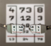 Eye test chart with eyeglasses royalty free stock photo