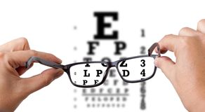 Eye test Royalty Free Stock Photo