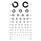 Eye Test Chart Vector. Rings Chart. Vision Exam. Optometrist Check. Medical Eye Diagnostic. Sight, Eyesight. Optical Stock Photography