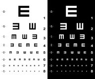 Eye test charts Royalty Free Stock Photography