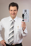 Eye test, eye doctor ophthalmologist Stock Image