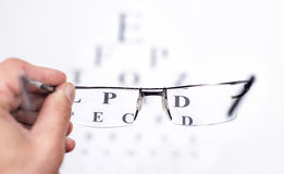 Eye test Stock Images