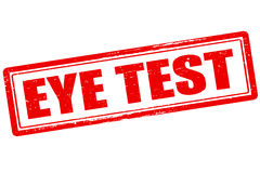 Eye test. Rubber stamp with text eye test inside,  illustration Stock Images