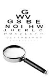 Eye Testing Chart Royalty Free Stock Photo